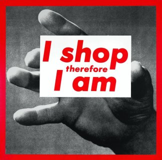 Barbara_Kruger_I_Shop_Therefore_I_Am